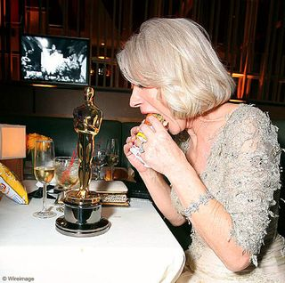 helen mirren eating